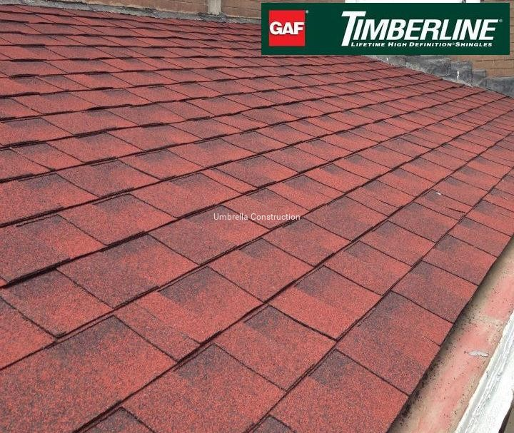 Gaf Timberline Hd Kolor Patriot Red Gonty Bitumiczne